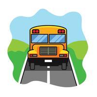 Schulbus-Illustration