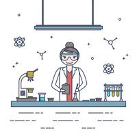 Weiblicher Wissenschaftler-Vektor