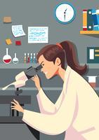 Weiblicher Wissenschaftler im Labor