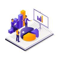 Isometrischer Teamwork-Bürovektor vektor