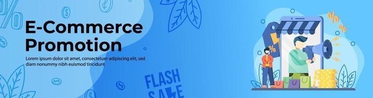 Web-Banner-Design für E-Commerce-Werbung vektor
