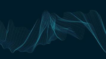 neon digital ljudvåg på mörkblå bakgrund, teknik och jordbävning vågdiagram koncept, design för musikstudio och vetenskap, vektorillustration. vektor