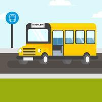 Schulbus-Vektor-Illustration