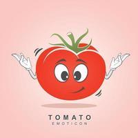 Tomaten-Charakter-Design-Vektor vektor