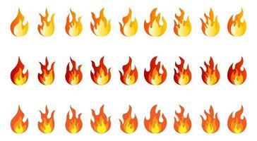 Flammensammelvektor vektor
