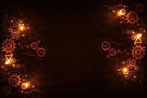 teknikbakgrund för kugghjul i mekaniska koncept. vektor