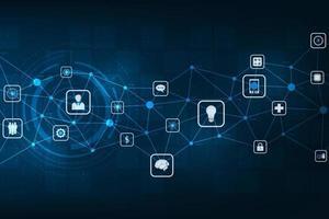 Netzwerk kompatibler digitaler Systeme. vektor