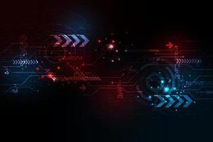 Betrieb digitaler Systeme, die Daten übertragen. vektor