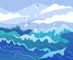 Illustration der hohen See vektor