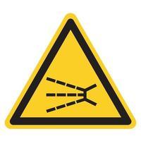 Spritzgefahrsymbolzeichen, Vektorillustration, isolieren auf weißem Hintergrundetikett .eps10 vektor