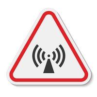 Vorsicht nichtionisierende Strahlung Symbol Zeichen Isolat auf weißem Hintergrund, Vektor-Illustration vektor