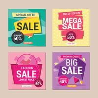 Försäljning Instagram Mall Design till salu Promotion vektor