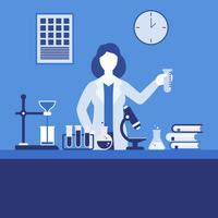 Kvinna Scientist Vector Illustration