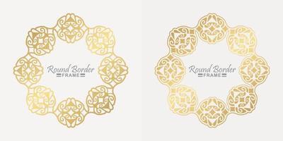 luxuriöses rundes Rahmenrahmen-Design vektor