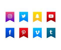 Sociala Media Ikoner Set vektor