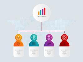 horizontale Zeitleisten-Infografiken-Elementvorlage mit Geschäftssymbolen vektor