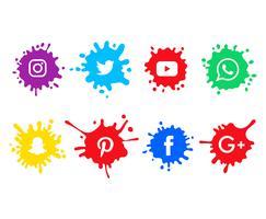 Social-Media-Icons gesetzt vektor