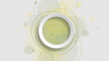 abstrakter geometrischer Hintergrund mit grünem Farbverlaufskreis auf weißem Hintergrund vektor