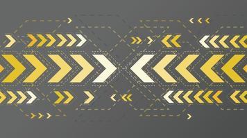 abstrakte gelbe Pfeile unterzeichnen auf dunklem Hintergrund vektor