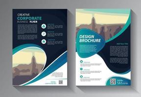 affärs abstrakt vektormall. broschyrdesign, täcka modern layout, årsredovisning, affisch, flygblad i a4 med färgglada trianglar, geometriska former för teknik, vetenskap, marknad med ljus bakgrund vektor