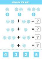 Zusatz für Kinder mit niedlichen Cartoon-Schneeflocke. vektor