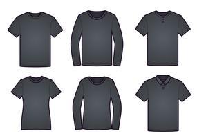 T-Shirt-Modell-Schablonen-Vektor-Satz vektor