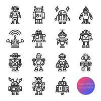 Roboter-Gliederungssymbole vektor