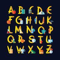 Schule Themen Alphabet vektor