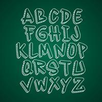 Handgjord Doodle typsnitt vektor