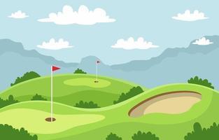 grön golf fält bakgrund vektor
