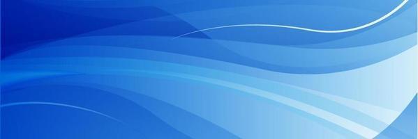 abstrakter blauer Wellenhintergrund vektor