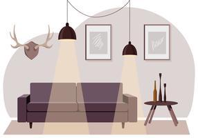 Vektor vardagsrum illustration