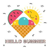 Hallo Sommer Vektor