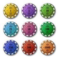 pokermarker ny uppsättning vektor