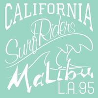 Kalifornien surf ryttare malibu vektor
