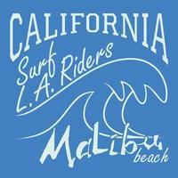 Kalifornien surf ryttare malibu beach vektor