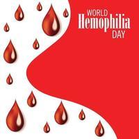 vektor illustration av en bakgrund för världens hemofili dag.