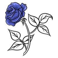 handgezeichnete Rosen. schöne Blume. Cartoon-Stil. Vektorillustration. vektor