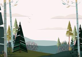 Vektor-schöne Landschaftsillustration vektor