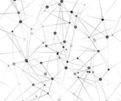 geometrisk grafisk bakgrundsmolekyl och kommunikation. stora datakomplex med föreningar. perspektiv bakgrund. digital datavisualisering. vetenskaplig cybernetisk vektorillustration. vektor