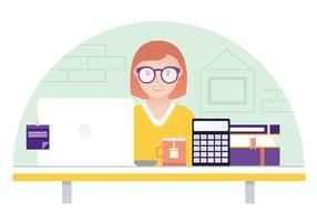 Vector Designer Desktop Illustration