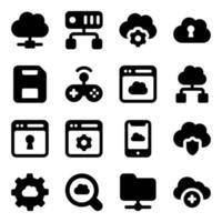 cloud computing och teknik vektor