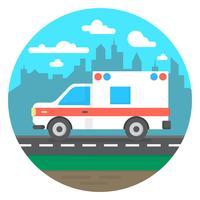 Ambulanzwagen vektor