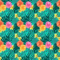 Vektor-tropisches nahtloses Muster vektor