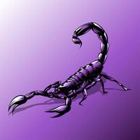 Skorpion-Tätowierungs-purpurroter Vektor