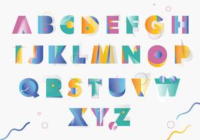 Colorfull Memphis-Art-griechischer Alphabet-Vektor