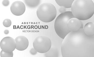 abstrakter Hintergrund mit fallenden 3D-Kugeln vektor