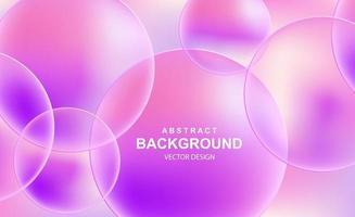abstrakt bakgrund med genomskinliga bollar vektor