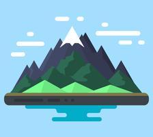 Flaches Landschaftsdesign vektor
