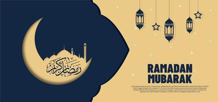 vacker ramadan kareem banner bakgrund vektor